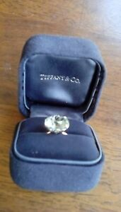 Tiffany & Co green amethyst ring size 5.5 with appraisal