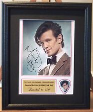Doctor Who Matt Smith Preprinted Autograph/Guitar Pick Display Mounted & Framed
