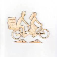 Tandem Braut Bräutigam Hochzeit Geschenk eigene Gravur 15cm aus Holz