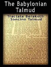 Babylonian Talmud: Tractate Berakoth, Soncino