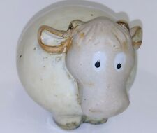 Pottery Round Fat Sheep Figurine Bubble Sheep