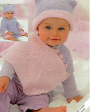 baby / children ponchos and hats dk knitting pattern
