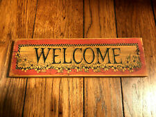 Welcome Home Decor Wall Sign--New