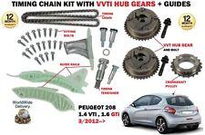FOR PEUGEOT 208 1.4 1.6 VTI + GTI  3/2012--> TIMING CHAIN KIT + VVT HUB GEAR