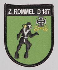 "Patch Patch marine destructor ""Rommel"" d187 tauchergruppe... a2637"
