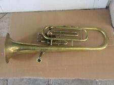 Antique RARE French Brass Alto Horn or Saxotromba Gautrot Brevete Paris 1900s