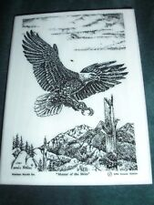 Montana Marble Decorative Plaque Desk Accessory Cultured Etched Eagle 8026