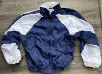 Vintage 90's Blue Nike White Tag Full Zip Jacket Size MEDIUM Windbreaker coat