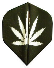 Best Dart Flights- 5 Black, Silver Marijuana Std Sets