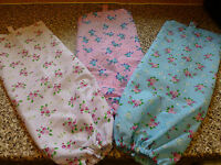 HANDMADE CARRIER BAG HOLDER / DISPENSER - VINTAGE ROSE FABRIC, BLUE, WHITE, PINK