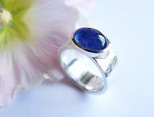 Ring  Silber  925  Tansanit  Cabochon  8,06 ct 13 x 10 mm  Weite  65,5