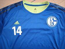 FC SCHALKE 04 Training Shirt adidas Gr L original signiert Abdul Rahman Baba