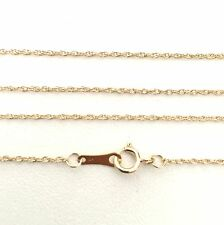 40cm Genuine 9ct 9K 375 Solid Yellow Gold Diamond Cut Rope Chain Necklace