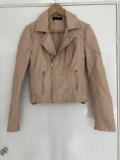 Miss Selfridge Faux Leather Biker Jacket Size 10