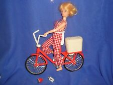Vintage Yukko Yuko Chan Cycling Cheri Clone Doll & TLC Bicycle ~ Parts/Restore