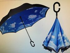 Umbrella Windproof Folding Inverted Upside Down Reverse