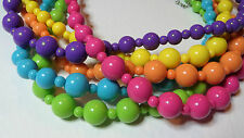 "PURPLE ACRYLIC NECKLACE strand 18"" GRADUATED 50's RETRO KITSCH ROCKABILLY"