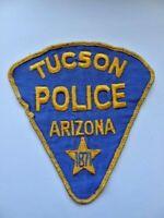 Vintage Tucson Police Uniform 80's Uniform Patch Cheese Cloth 1871 Arizona Used