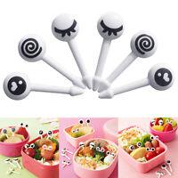 Baby Mini Food Fruit Picks Forks Kid Set Cute Eye Bento Lunch Box Tool Tableware