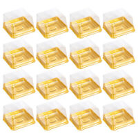50pcs Mooncake Dome Boxes Baking Round Plastic Packing Box Cake Container