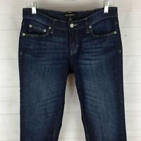 Banana Republic womens 2 x L28 stretch blue faded dark wash skinny jeans in LNC