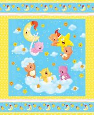 Wish Upon a Star -Stars Bears Large Panel Cotton Flannel Fabric By The Yard