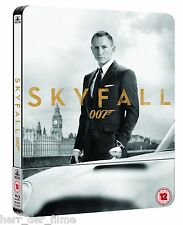 James Bond 007: SKYFALL (Daniel Craig) Blu-ray Disc, U.K. Steelbook NEU+OOP