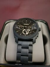 FOSSIL Machine FS4682 Men's Quartz Chronograph Black Stainless Steel Watch