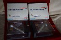 Herpa  2x  Wings B747-200 British Airways SCHWEDEN, Box 502665 - 1:500