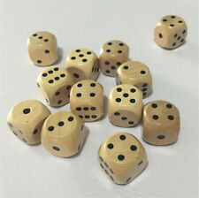 Tabletop RPG Board Game Wood Dice Set D6 10pcs Wooden Roll Point Cube Quality