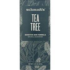 Schmidt's Natural Deodorant Sensitive Skin Tea Tree 3.25 Oz Stick f/ Women & Men