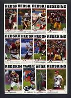 2004 Topps Washington Redskins TEAM SET
