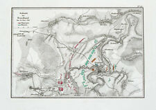 1857 Friedland Ostpreußen Prawdinsk Russland Napoleon Kupferstich-Plan