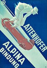 Esquí Esquí Attenhofer alpina Bindung vinculante cartel impresión