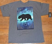 Genuine Tony Hawk Logo Bear Mens Graphic Tee T-Shirt MSRP $22.00 Charcoal