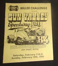 1984 Sun Valley Speedway Sprint Car Program
