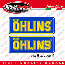 KIT ADESIVI sticker OHLINS 2 PEZZI Moto GP, SBK, Cross F1 RALLY suspension