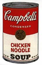 Warhol Sunday B. Morning, Soup Can - Chicken Noodle Screenprint