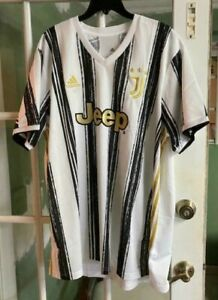 Adidas 2020 2021 JUVENTUS Home Soccer Jersey Football Shirt Jeep EI9894 Size 2XL