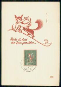 Mayfairstamps GERMANY FDC 1958 MAXIMUM CARD JUGENDMARKE FOX wwk94809
