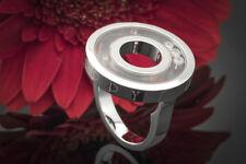 Gioielli Chopard Happy Diamonds anello in oro bianco 750 con 3 brillanti 82/6243 -20