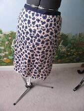 Tory Burch Women's Blue an Beige Persian Leopard Tiered Skirt Size 10 New