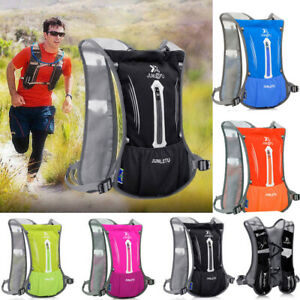 UK Sports Backpack Hiking Hydration Pack Cycling Running Vest + 2L Water Pack