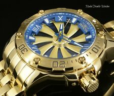 Invicta Men's Speedway 52mm Turbine Automatic Blue Dial Gold Tone Bracelet Watch