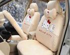 18pcs Plush Universal Hello Kitty Car Seat Covers Cushion Accessories Beige 049l