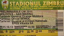 TICKET 11.10.2013 Moldawien - San Marino