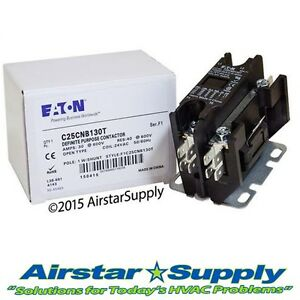C25CNB130T Eaton / Cutler Hammer Contactor - 30 Amp • 1 Pole • 24V Coil