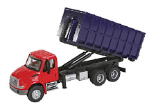1:87 HO Scale International 4300 Red Dual Axle Dumpster Truck SceneMaster #11630