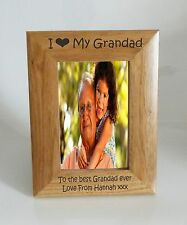 Grandad Photo Frame- I heart-Love My Grandad 5 x 7 Photo Frame - Free Engraving