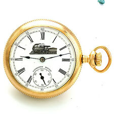 Vintage Locomotive Special Dial Swiss Pocket Watch Ca1920s